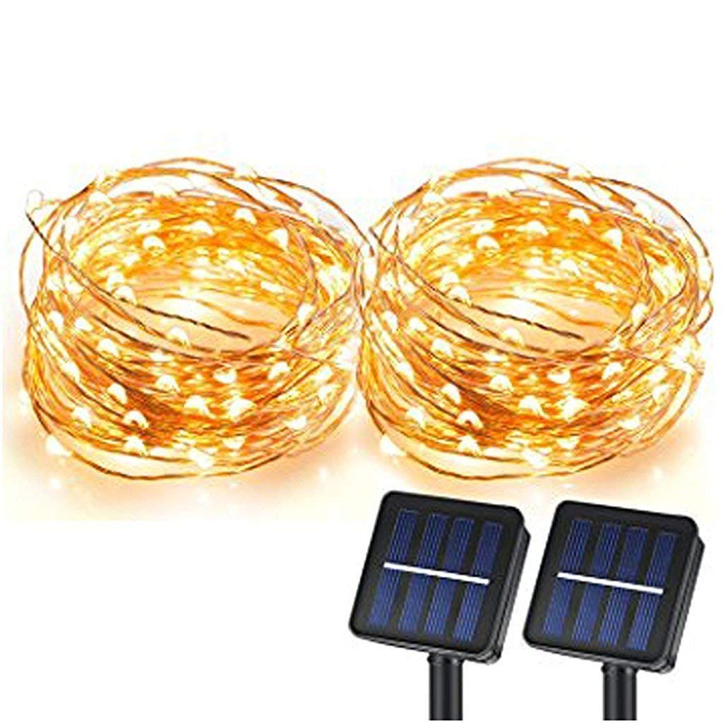 Solar String Lights Sunlitec 100 Leds Starry How To Build Dancing Copper Wire Ambiance Lighting For Outdoor Gardens Homes