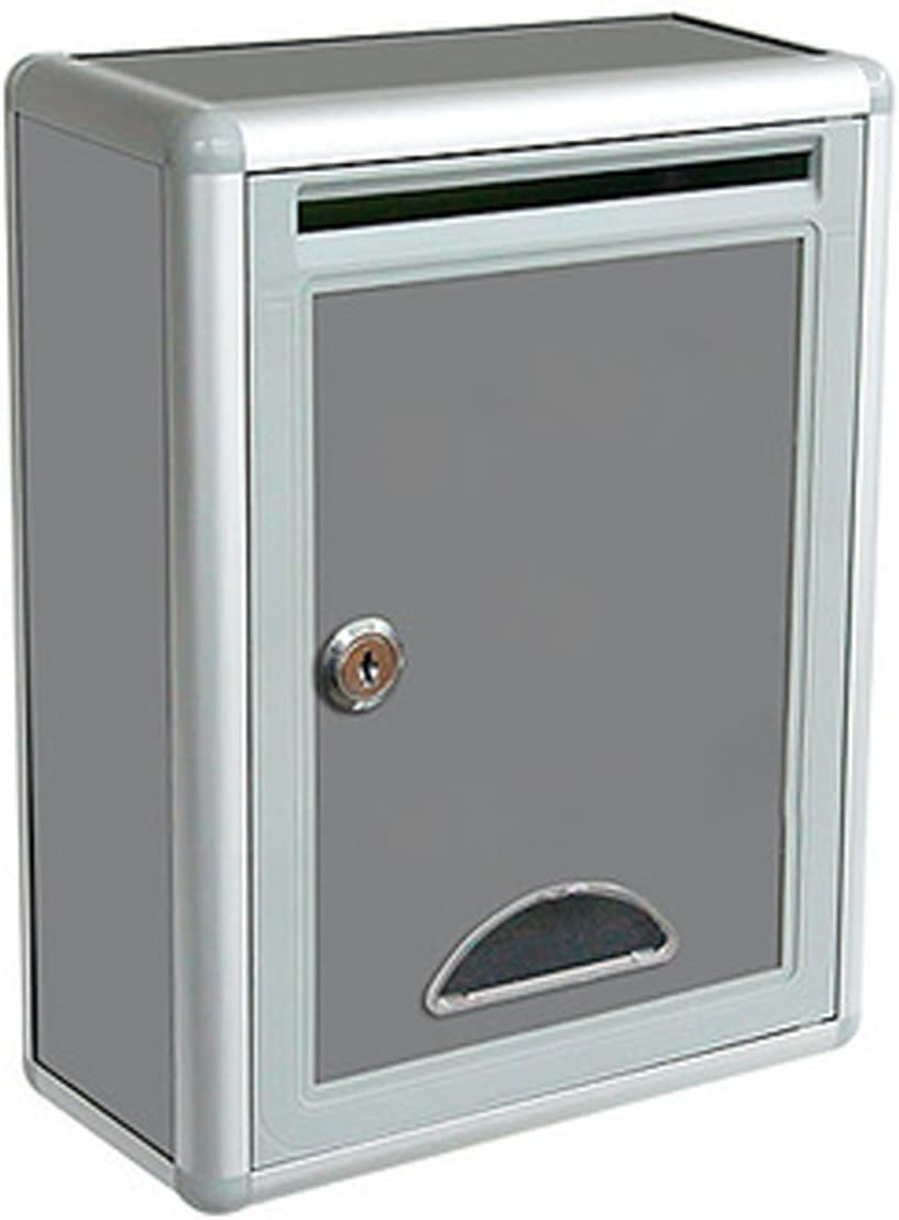 Secure Locking Heavy Duty Door Mount Safe Drop Box Mailbox Office Key Cash Lock