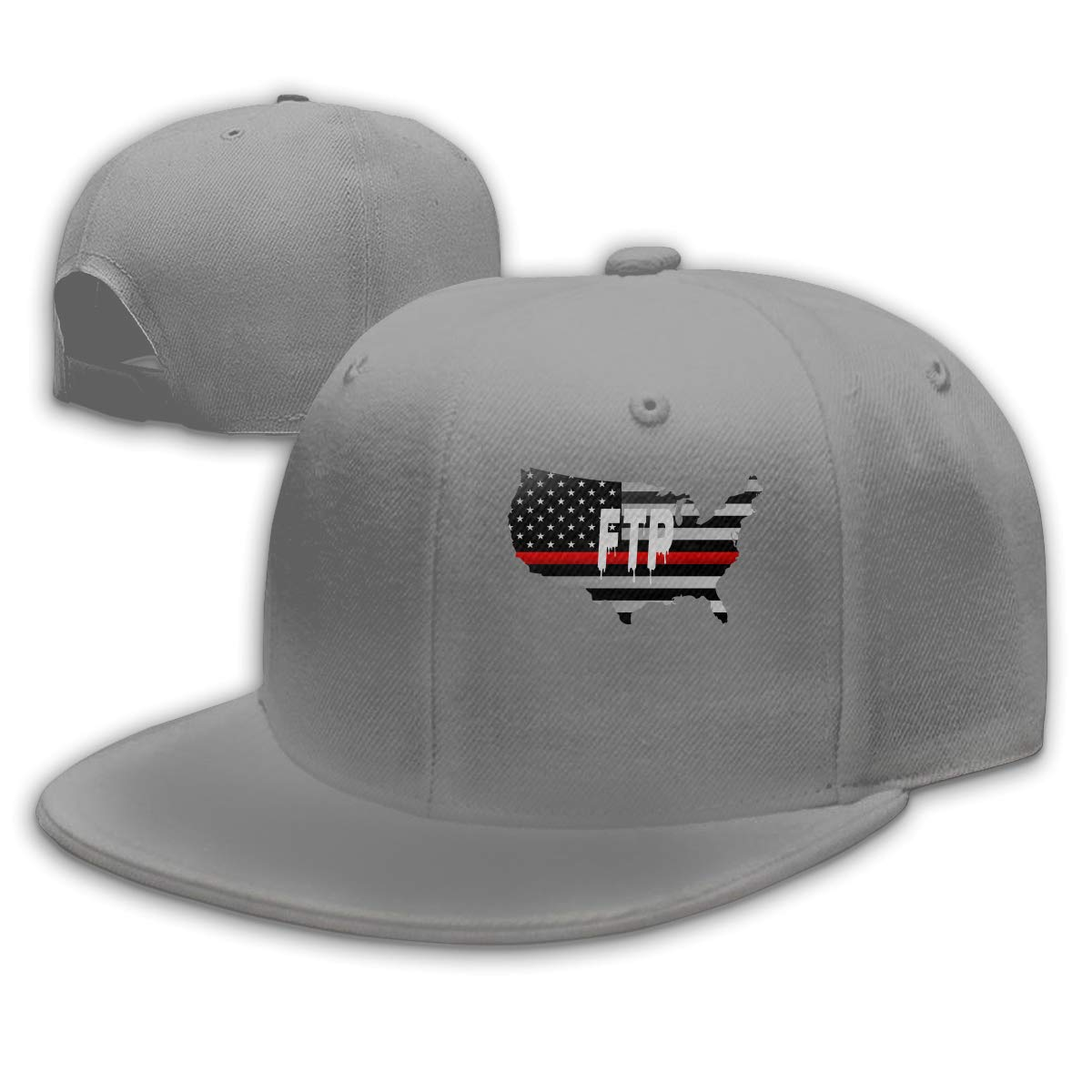 48e4e99d17ab1 FTP Savage Thin Red Line Flag Baseball Cap Hat Dad Hat Bill Hat Falt Hat at  Amazon Men s Clothing store
