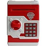 Catterpillar Money Safe Kids Piggy Savings Bank with Electronic Lock (Red & White)