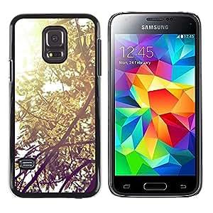 iKiki Tech / Estuche rígido - Plant Nature Forrest Flower 57 - Samsung Galaxy S5 Mini, SM-G800, NOT S5 REGULAR!