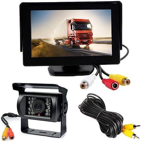 US 12V 4 LED Car Rear View Camera Parking Assistance Reverse Backup Parking