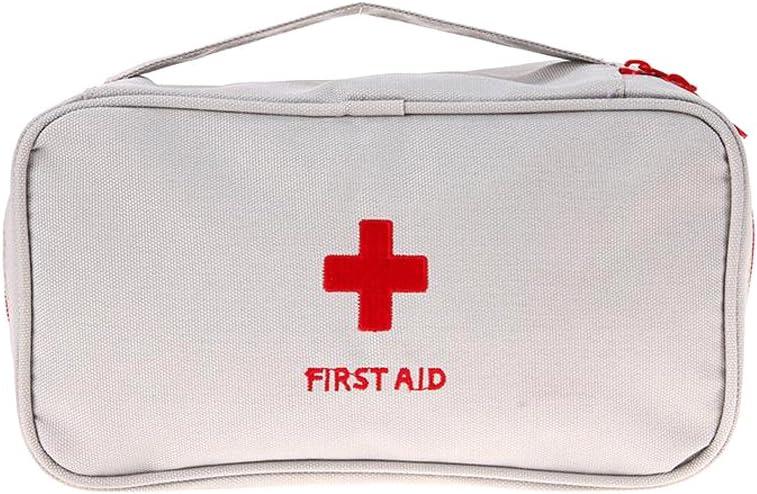 Ndier Al aire libre que acampa yendo de excursión bolsa de viaje de emergencia de emergencia botiquín de primeros auxilios bolsa de medicina de vacío, medicinal, almacenamiento de vitamina 1 pc (gris)