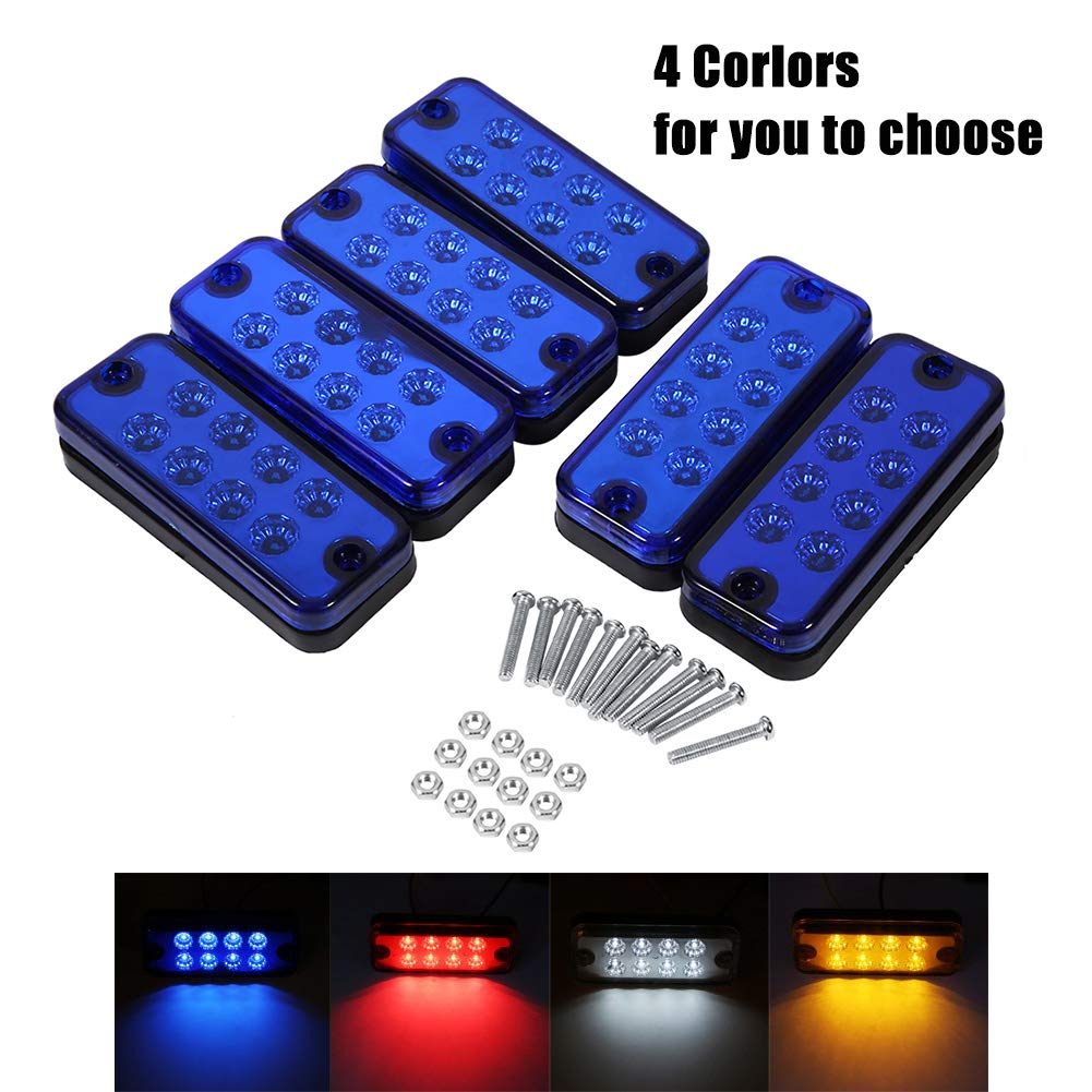 vgeby 6pcs 12v 8 leds side marker light l truck trailer