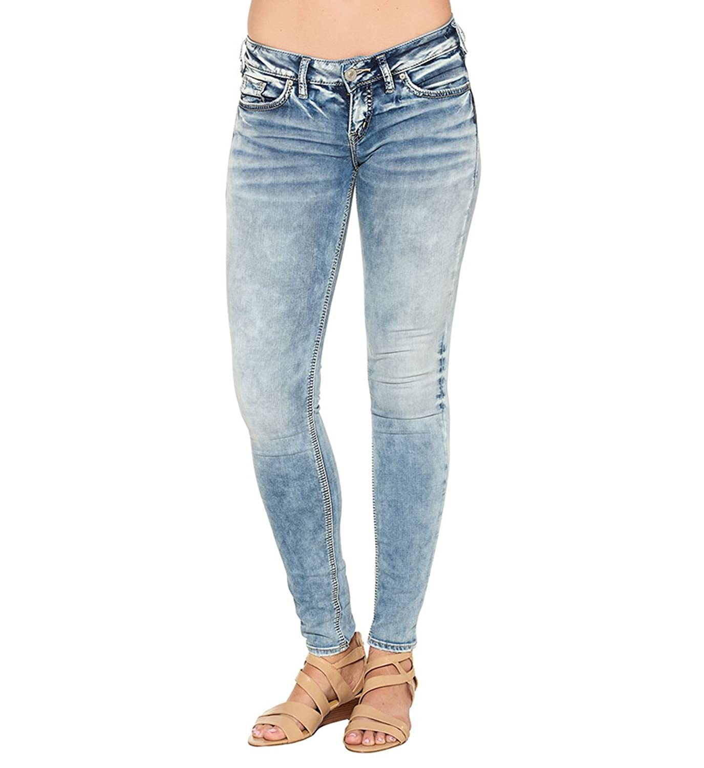 Silver Jeans Co. Aiko Mid Super Skinny Light Wash