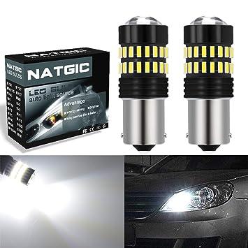 Bombillas LED de 1200 lúmenes, xenón blanco 1156 extremadamente brillantes, 48 SMD 4014 chipsets