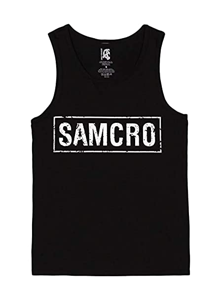 a02a5a82 Image Unavailable. Image not available for. Color: Sons of Anarchy - SAMCRO  Sleeveless Tee T-Shirt Size XXL