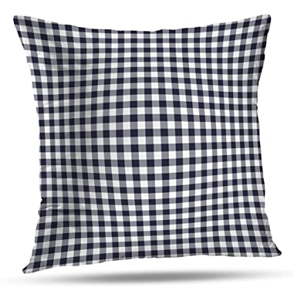 Wondrous Pakaku Throw Pillows Covers For Couch Bed 18 X 18 Inch Navy Blue Gingham Gray White Plaid Home Sofa Cushion Cover Pillowcase Gift Decorative Hidden Ibusinesslaw Wood Chair Design Ideas Ibusinesslaworg