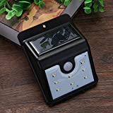AMZVASO - LED Solar Powered Wireless Security Waterproof Motion Sensor Light 8 LED