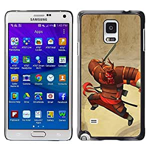 Plastic Shell Protective Case Cover || Samsung Galaxy Note 4 SM-N910 || Cartoon Japanese Warrior @XPTECH