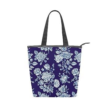 9569203da50d Amazon.com: Fashion Tote Handbag Beautiful Rose Black Laptop ...