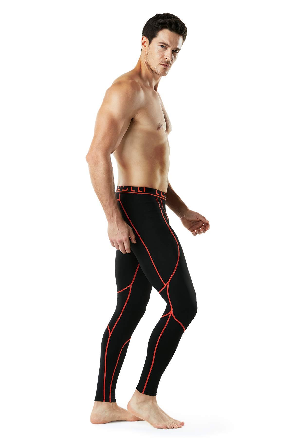 TM-YUP43-KOG_2X-Large Tesla Men's Thermal Wintergear Compression Baselayer Pants Leggings Tights YUP43 by TSLA (Image #7)