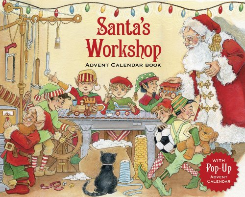 Entertaining with Caspari Santa's Workshop Story Book Advent Calendar ADV235