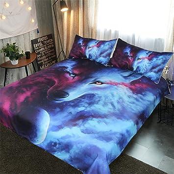 Dxsx Bettwasche Bettbezug 3d Wolf Theme Muster Bettbezug Und