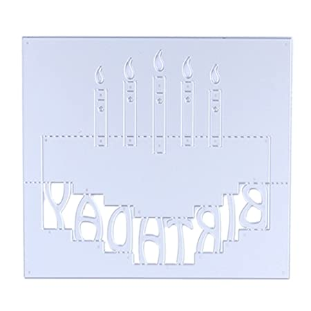 Demiawaking Birthday Candles Cutting Dies Stencil Frame DIY Decoration Embossing Template For Scrapbooking Album Paper Card Making Amazoncouk Kitchen