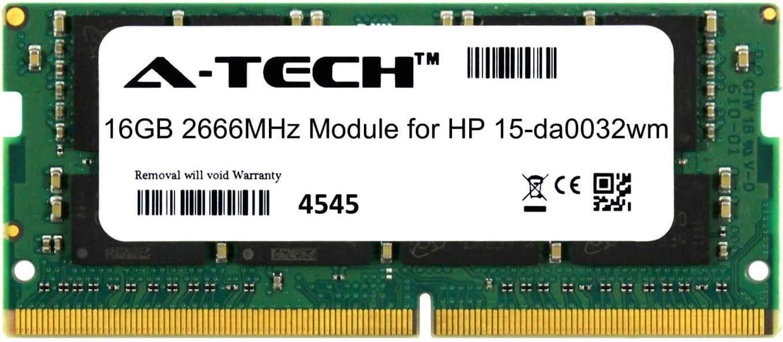 A-Tech 16GB Module for HP 15-da0032wm Laptop /& Notebook Compatible DDR4 2666Mhz Memory Ram ATMS381635A25832X1