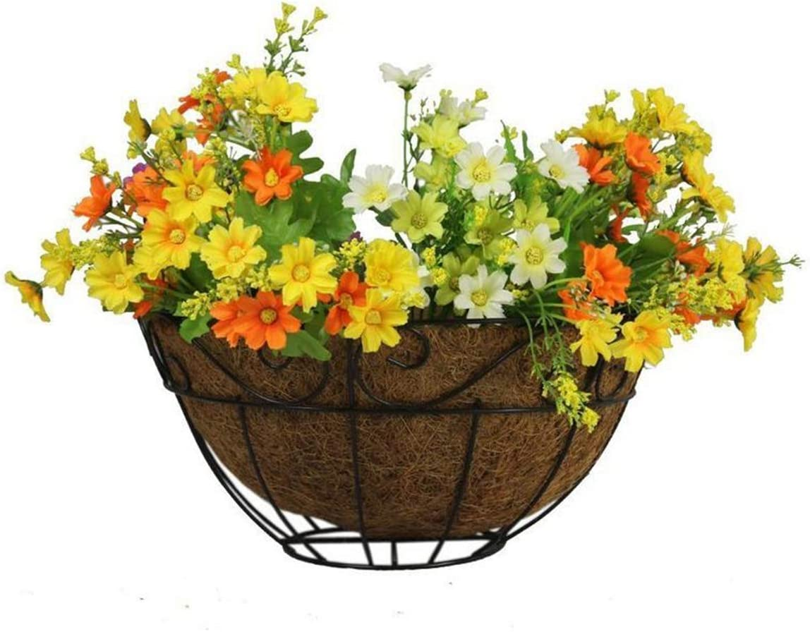 Renewed wonuu Coco Liners for Planters,12 Round Coco Fiber Hanging Basket Liner Replacement
