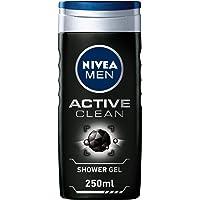 NIVEA, MEN, Shower Gel, Active Clean, 250ml