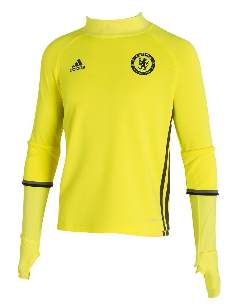 2016-2017 Chelsea Adidas Training Top (Yellow) Kids B01HUVJ6COYellow Small Boys 26-28\