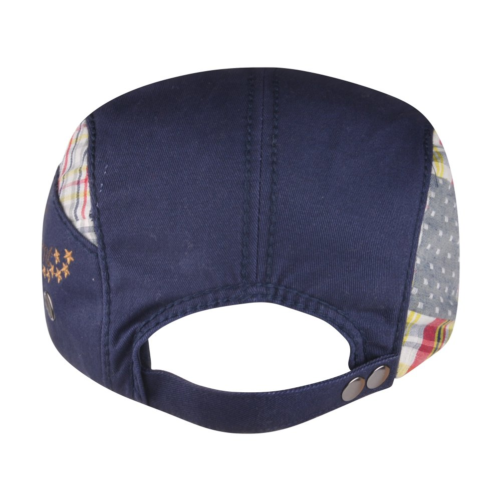 M MOACC Men Beret Hat Cotton Washed Snap Adjustable Newsboy Cabbie Cap (Blue)