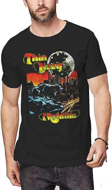 Rock Off Thin Lizzy Nightlife Colour Oficial Camiseta para Hombre: Amazon.es: Ropa y accesorios