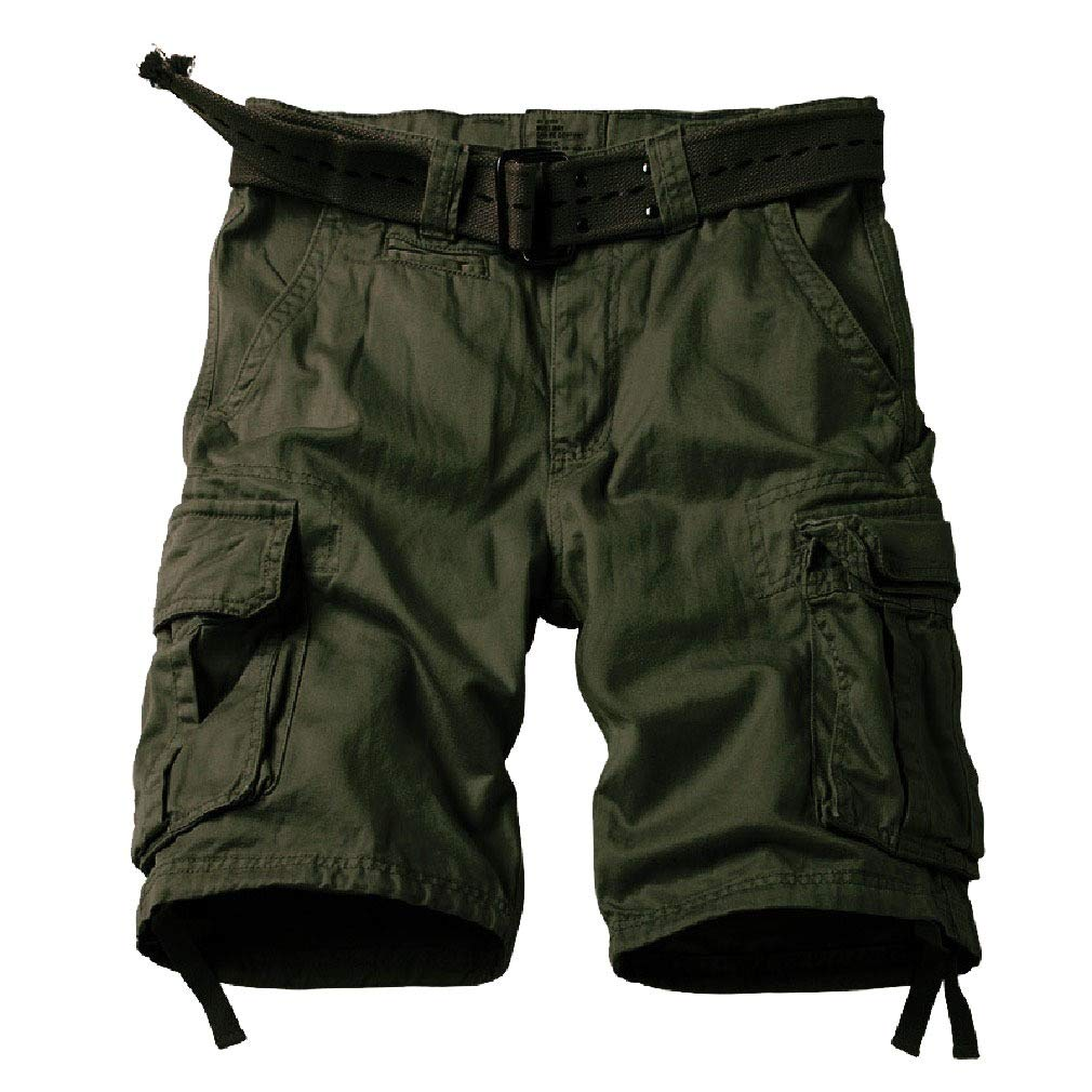 Coolred-Men Multi Pockets Multicam Short Pants Outdoor Relaxed Tactical Pants