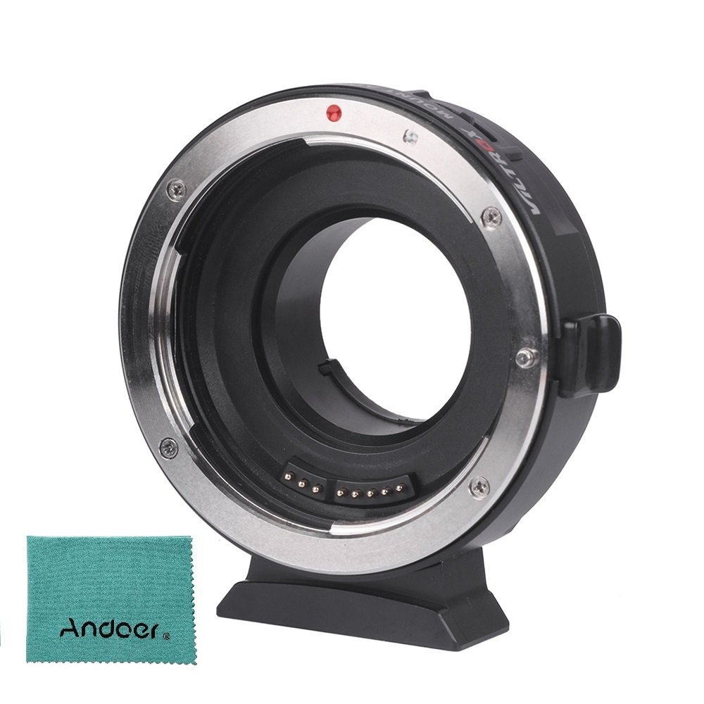 Viltrox EF-M1 AF Lens Mount Adapter Auto Focus Aperture Control VR Stabilization for Canon EF/EF-S Lens to M4/3 Micro Four Thirds Camera for Panasonic GH5/4/3 Olympus by VILTROX
