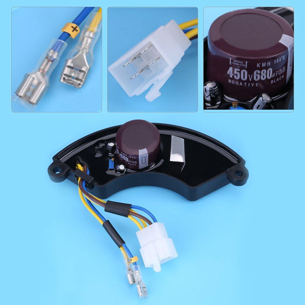 8.5KW 2-phase 6-wire Petrol Generator Aluminum Universal Adjustable Voltage Regulator Arc-shaped Automatic Voltage Regulator AVR for 6.5KW 7KW