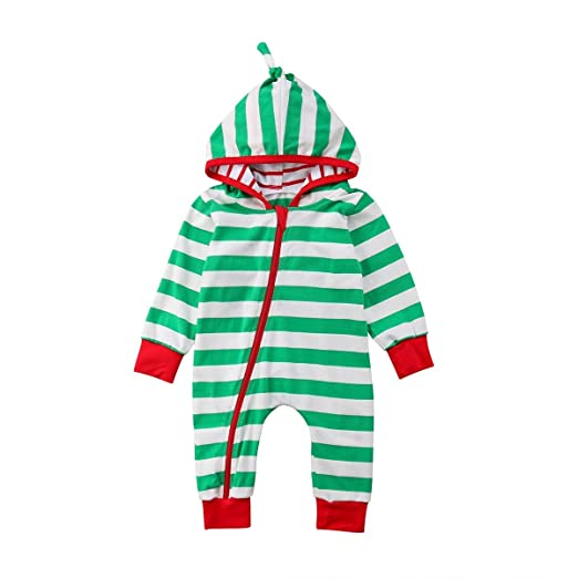 7a471a14d Amazon.com  GSHOOTS Baby Girl Christmas Pajamas Baby Boy Striped ...