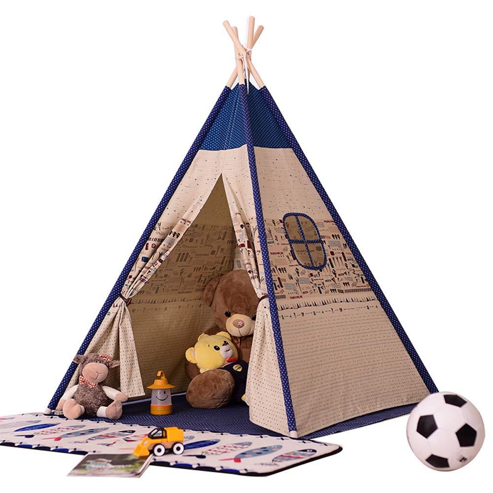 HJGHFH Tipi-Zelt für Kinder Kinderspielzelt für Indoor Outdoor, Canvas