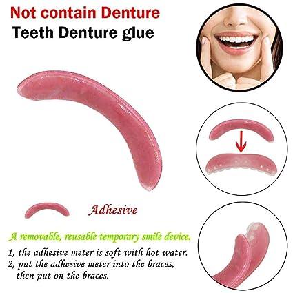 Diadia Dientes Dentadura Glue,Cosméticos dientes sonrisas Ahora Fit Tooth Top Maquillaje chapa Correcto Dientes