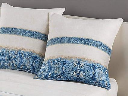 Tejidos JVR LaNovenaNube - Cojín Amber Medida 50x50 cm - Color Azul