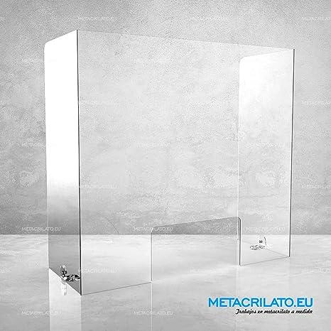 Flexprotect - Mampara transparente de protección frontal y lateral para mostradores, mesas y despachos: Amazon.es: Oficina y papelería