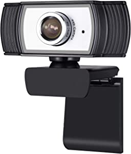Computer Webcam with Microphone 1080P by Comix, HD Streaming Computer USB Camera for PC Laptop Zoom Conference Skype Video Calling Compatible with Mac OS, Windows, Android TV, Sliver+Black