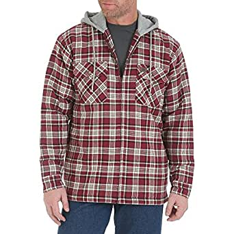 Wrangler Mens Riggs Workwear Hooded Flannel Jacket (X-Large)
