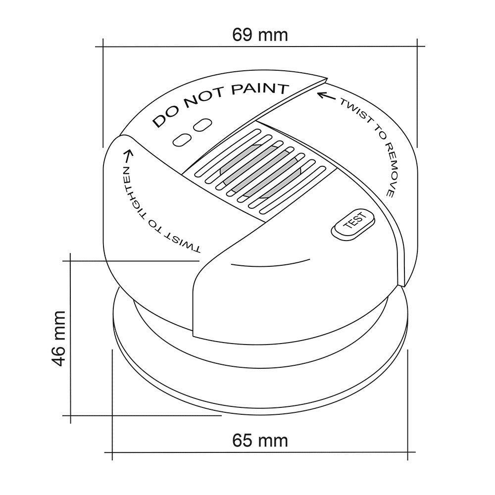 /Ø 69x46mm 8h // 9min DIN EN 14604 photoelectric mute SEBSON Mini Smoke Alarm 10 Year Battery VdS 3131 Lithium built-in Battery