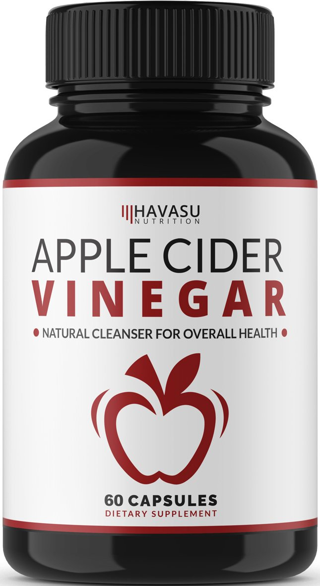 Extra Strength Apple Cider Vinegar Pills – All Natural Weight Loss, Detox, Digestion & Circulation Support & Cayenne – Powerful 500mg Cleanser, Premium-Non-GMO Cider Capsules