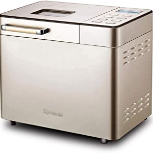 Stainless Steel Bread Machine Programmable Bread Maker,Gluten-Free Setting, Reserve,Keep Warm