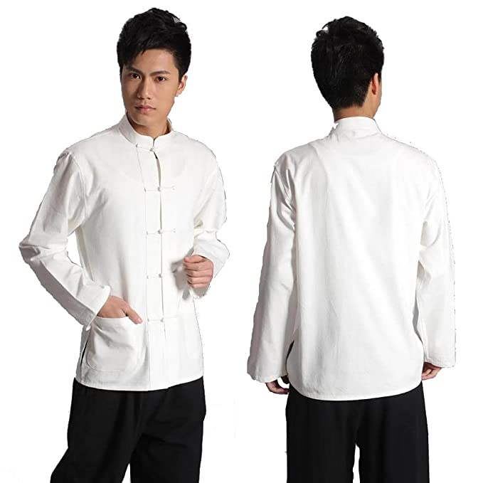 Amazon.com: Chino tradicional Escudo Blanco traje de Kung Fu ...