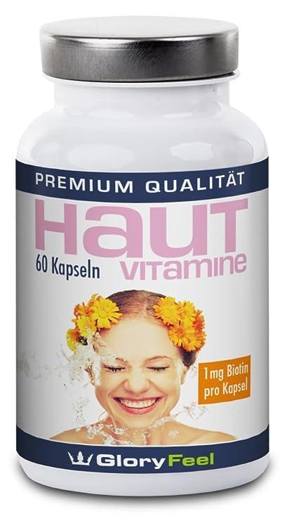 Piel Pura Vitaminas Cápsulas + Biotina – concentradas y puras, vitaminas para la piel +