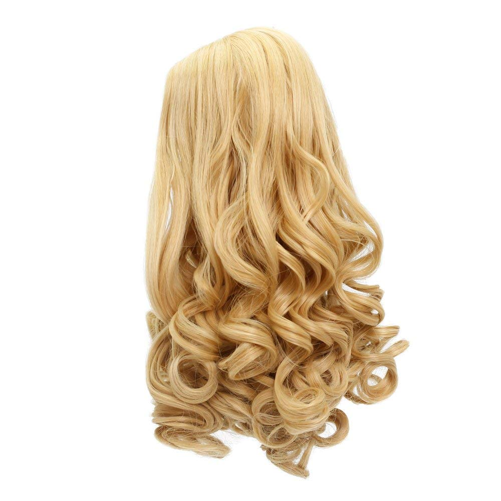 Penny Brown Long Loose Wavy Doll Wigs with Simulation Scalp for 18 American Dolls Beautiful Hair Accessories