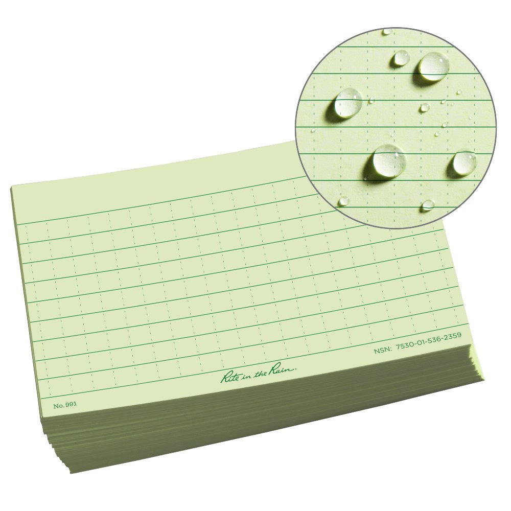 Rite in the Rain Weatherproof Index Cards No. 791 3 x 5 Universal Pattern Gray