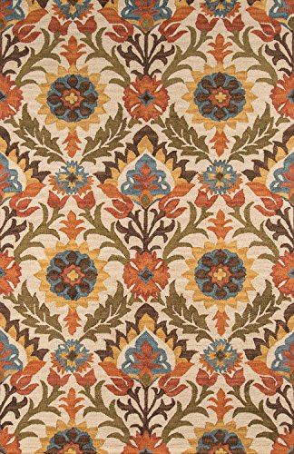 Momeni Rugs TANGITAN-9GLD5080 Tangier Collection, 100% Wool Hand Tufted Tip Sheared Transitional Area Rug, 5' x 8', Gold (Wool Burnt Sienna Rug)