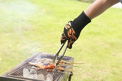 Armors guantes (único guante) – Barbacoa y grill resistente al calor guantes con cierres