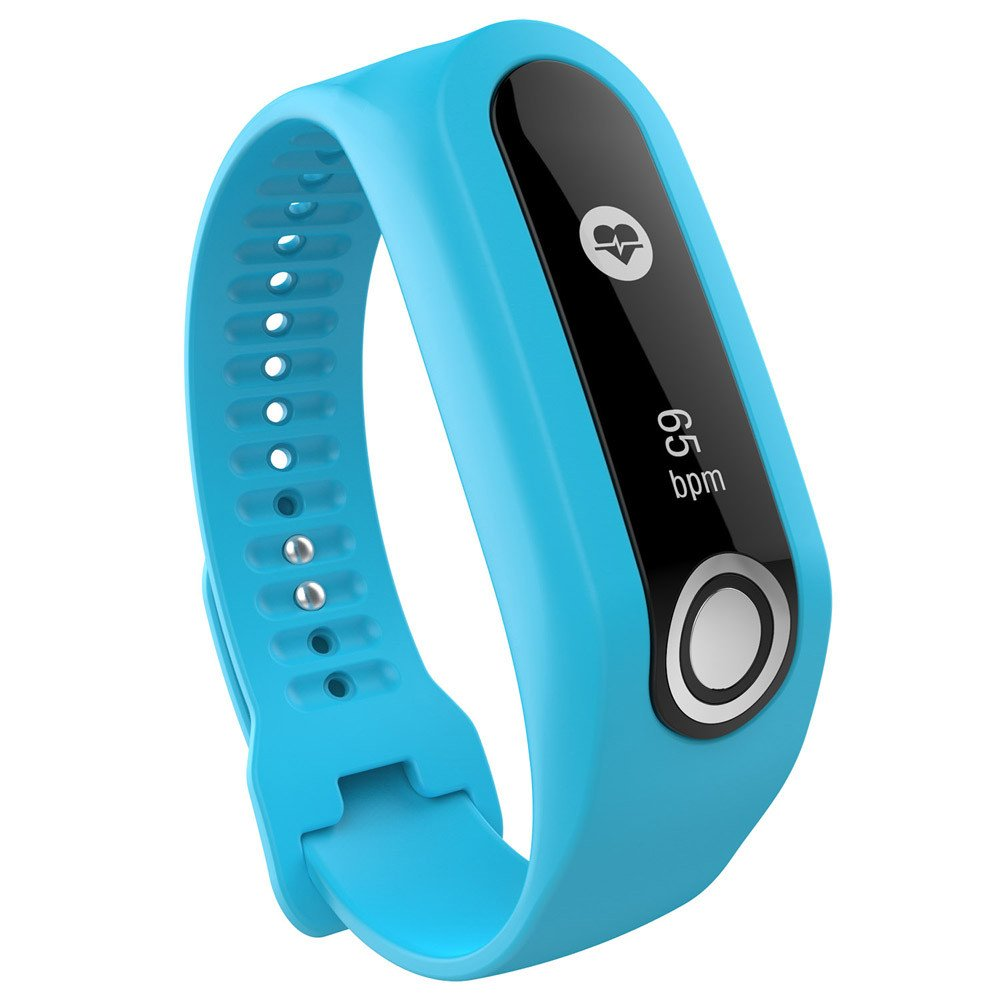 CSSD Fashion Replacement Silicone Watch Bands Strap for Tomtom Cardio Activity Tracker (Blue)