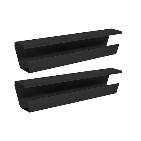 Wiretamer Cable Management Tray Under Desk Cord Organizer 2 Pack Black