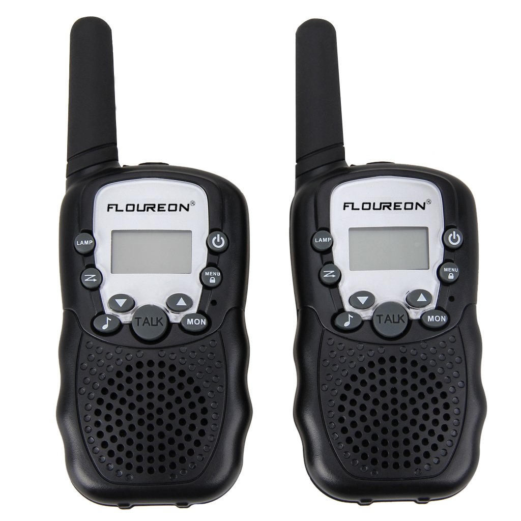 Floureon UHF462-467MHz 22 Channel FRS/GMRS 2-Way Walkie Talkies (2-Pack) by floureon (Image #1)