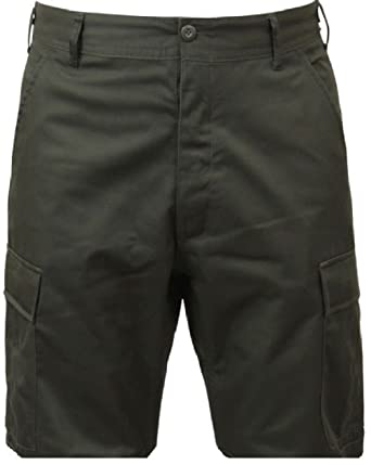 Bellawjace Clothing OD Green Military BDU Combat Cargo Shorts Poly ... 870bf42cf8b