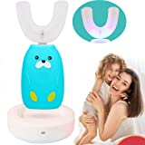 bopopo U-Shaped Kids Automatic Toothbrush,2 Brush Heads of Different Sizes,3-Speed Autobrush Cleaning Mode,Edible Grade Soft Bristles Specially Designed for Toddlers,Cute Cartoon Fun While Brush
