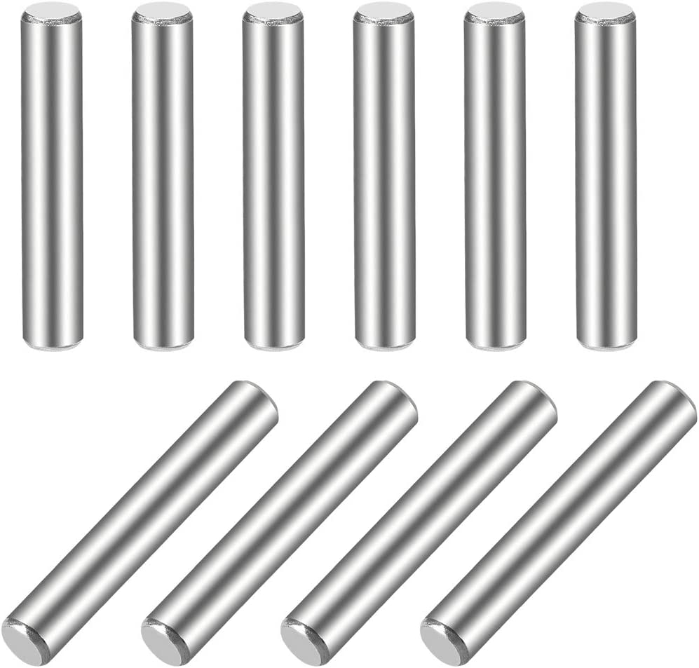 sourcing map 10Pcs Goujon Broche 304 Acier Inoxydable Cylindrique /Étag/ère Support Broche 5mm x 30mm
